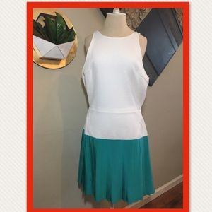 ❤️NWT❤️ Thakoon White Cotton Silk Green Dress
